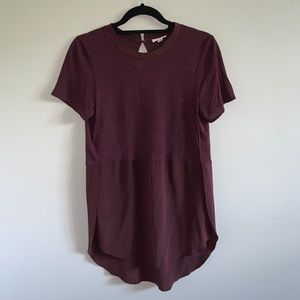Wilfred with SILK maroon side slit Capucine tunic
